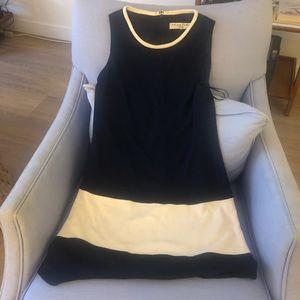 Trina Turk Navy and White Sleeveless Dress